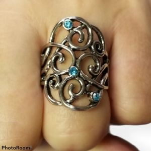 🔥2/$30🔥Frill Out Blue Ring